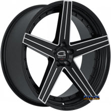 Giovanna Wheels - DUBLIN-5 - machined w/ black