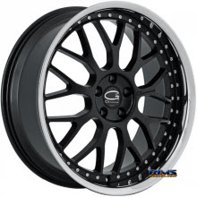 Giovanna Wheels - ESSEX - black w/ chrome lip