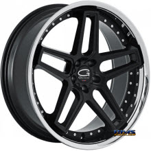 Giovanna Wheels - AUSTIN - black w/ chrome lip