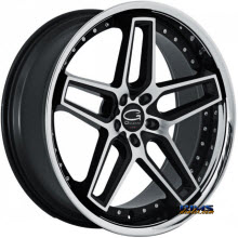Giovanna Wheels - AUSTIN - machined black w/ chrome lip