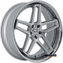 Giovanna Wheels - AUSTIN - machined w/ silver chrome lip