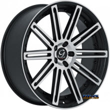 GIANELLE WHEELS - TROPEZ - machined w/ black