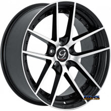 GIANELLE WHEELS - MONACO - machined w/ black
