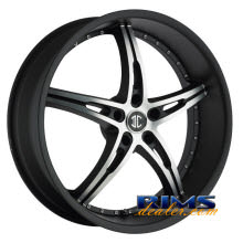 2Crave Rims - No.14 - black flat w/ machined