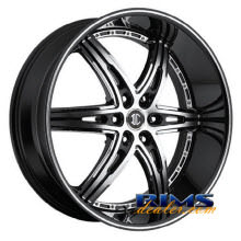 2Crave Rims - No.16 - machined black w/stripe