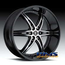 2Crave Rims - No.16 - machined w/ black