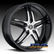 2Crave Rims - No.17 - machined w/ black