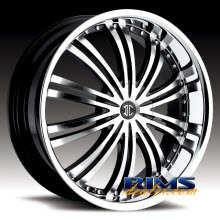 2Crave Rims - No.1 - machined w/ black chrome