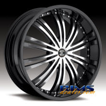 2Crave Rims - No.1 - machined w/ black