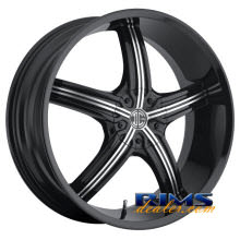 2Crave Rims - No.23 - machined w/ black