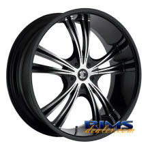 2Crave Rims - No.2 - machined w/ black