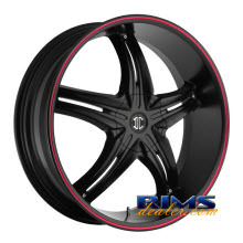 2Crave Rims - No.5 - black w/ red lip