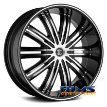 2Crave Rims - No.7 - machined black w/stripe