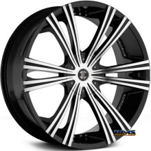 2Crave Rims - No.28 - Machined w/ Black