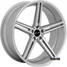 GIANELLE WHEELS - LUCCA - machined w/ silver