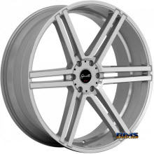 GIANELLE WHEELS - BOLOGNA - machined w/ silver