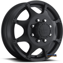Vision Wheel - Crazy Eightz 715 - black flat