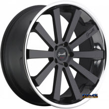 GIANELLE WHEELS - SANTO-2SS - black w/ chrome lip