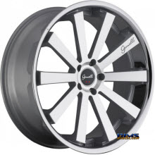 GIANELLE WHEELS - SANTO-2SS - machined w/ silver chrome lip
