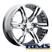 Switchblade 904C (6-Lug) - chrome