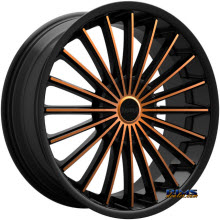 KRONIK WHEELS - KUSH (COPPER) - black gloss
