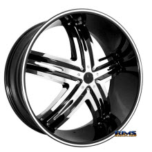 MASSIV WHEELS - 910 ENVIOUS with chrome inserts - Black Gloss