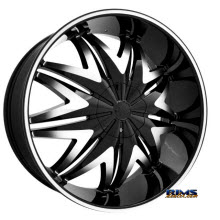 MASSIV WHEELS - 912 KRYSTAL - Machined w/ Black