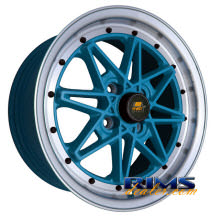 MST wheels - MT03 - machined w/ blue