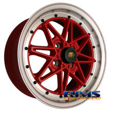 MST wheels - MT03 - machined w/ red