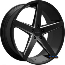 ROSSO WHEELS - AFFINITY (MILLED) - black gloss