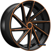 ROSSO WHEELS - INSIGNIA (COPPER) - black gloss