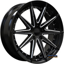ROSSO WHEELS - ZEN (MILLED) - black gloss