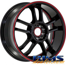 RUFF RACING - R952 - black w/ red lip