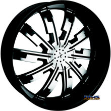 STARR ALLOY WHEEL - 517 Cypher - black gloss w/ machined