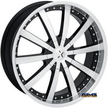 STARR ALLOY WHEEL - 526 LORD - black gloss w/ machined