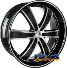 VELOCITY - VW855 - machined black w/stripe