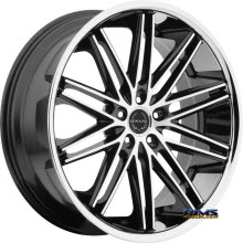 ASANTI WHEELS - ABL-10 - Machined w/ Silver Chrome Lip