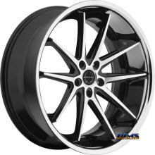 ASANTI WHEELS - ABL-5 - Machined w/ Silver Chrome Lip