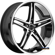 ASANTI WHEELS - ABL-7 - Machined w/ Silver Chrome Lip