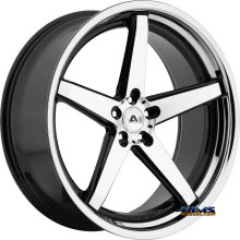 Adventus Wheels - AVS-2 - Black Gloss w/ Machined