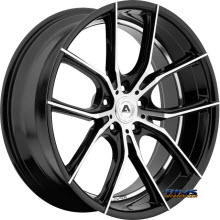 Adventus Wheels - AVX-6 - Black Gloss w/ Machined