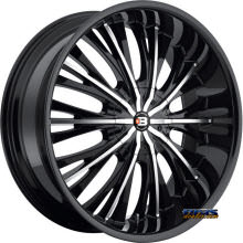 BigBang Wheels - BB3 - black gloss w/ machined