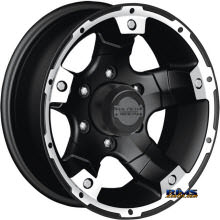 Black Rock - 900B Viper Off-road - Black Flat w/ Machined