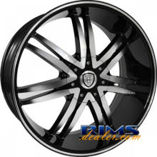 BORGHINI - B14 - machined black w/stripe