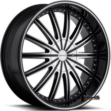 CAVALLO WHEELS - CLV-6 - machined w/ black