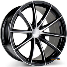 ACE ALLOY - CONVEX D704 - Black Gloss w/ Machined