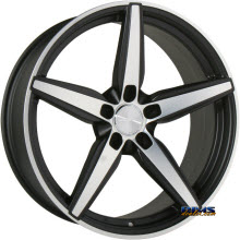 ACE ALLOY - COUTURE C903 - black flat w/ machined