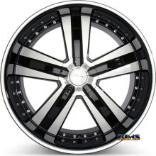 ACE ALLOY - DELUXE C899 - machined black w/stripe