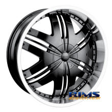 Dip Rims - PHOENIX-[D36] - machined w/ black