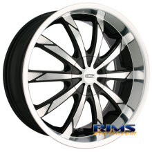 Dip Rims - SLACK-[D66] - machined w/ black